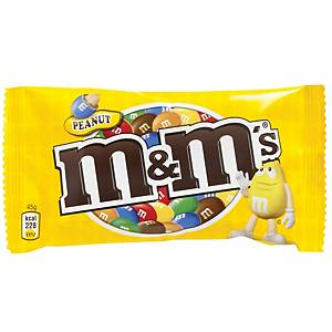 Chokolade M&M s Peanut, 45 g, æske a 24 poser