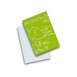 Fogli protocollo a quadretti Pigna A4 80 g/mq - conf. 2 x 200