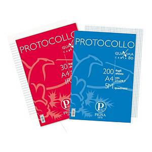 Fogli protocollo a righe uso bollo Pigna A4 80 g/mq - conf. 2 x 200