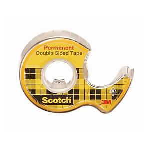 Klebeband mit Abroller Scotch 665, 12 mmx6,3 m, doppelseitig