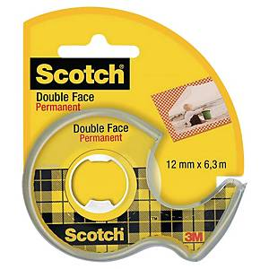 SCOTCH DOUBLE-SIDED STICKY TAPE 12MM X 6.3M ROLL - WITH DISPENSER