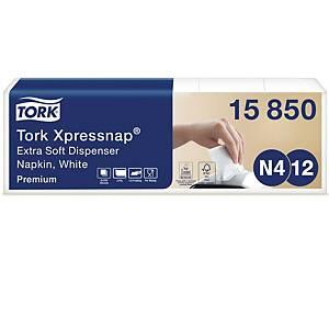 Servietter Tork N4 Premium, 2-lag, 10,8 x 16,5 cm, 5 pakker a 200 stk.