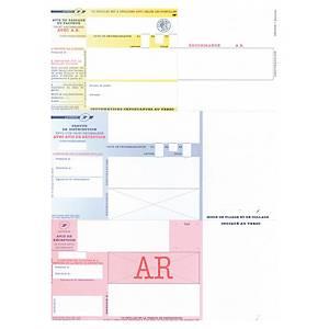Imprimé recommandé national - avec AR - sans code barres - boîte de 1000