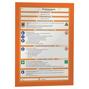 Durable Duraframe selbstklebender Inforahmen, A4, orange, 2 Stk/Pack