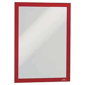 Samoprzylepna ramka informacyjna DURABLE DURAFRAME A4, czerwona, w opk 2 sztuki