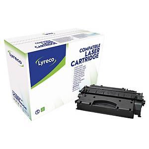 Toner Lyreco kompatibel mit HP CE505X, Reichweite: 6.500 Seiten, schwarz