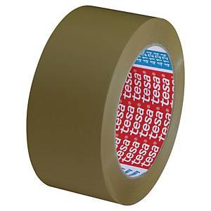 Pakketape Tesa 4124, PVC, 50 mm x 66 m, brun, 1 rulle