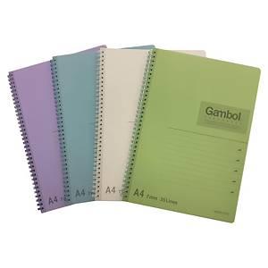 Gambol DS2108 鐵圈筆記簿 混色 - 每本80張紙