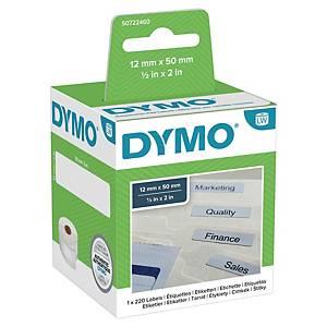 Dymo 99017 hangmap etiketten voor labelprinter, 50 x 12 mm, rol van 220