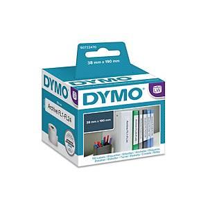Dymo 99018 ordner etiketten voor labelprinter, 190 x 38 mm, rol van 110