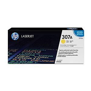 HP laserový toner 307A (CE742A), žltý
