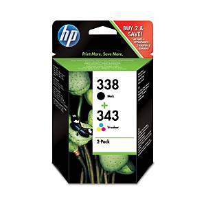 HP atramentová kazeta 338/343 (SD449E), 4-farebná Č/C/M/Ž