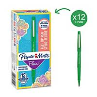 Paper Mate Flair Pen Medium Green - Pack Of 12
