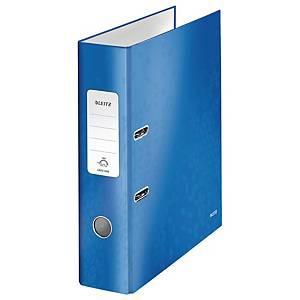 Ordner Leitz 1005 WOW, PP-kaschiert, A4, Rückenbreite: 80mm, blau metallic