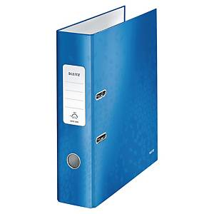 Leitz 180° Wow Laminated A4 , 80mm Spine, Lever Arch File Blue