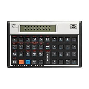 HP 12C platinum financial calculator - 10 numbers