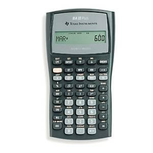 Texas Instruments TI BA-II+ financiële rekenmachine, 10 cijfers