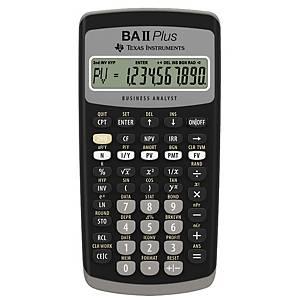 Finansregner Texas BA-II Plus, sort, 10 cifre