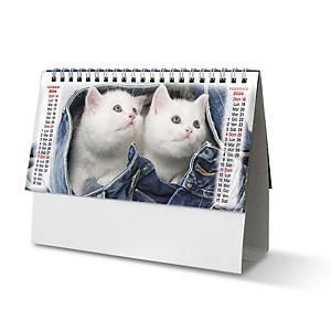 Calendario da tavolo spiralato mensile cani e gatti