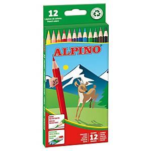 BX12 ALPINO PENCILS ASS COLOURS