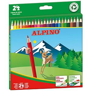 Caixa de 24 lápis de cor ALPINO