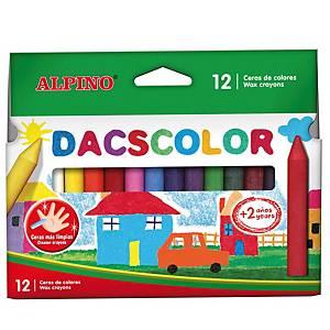 Pack de 12 ceras de colores Alpino dacscolor - colores surtidos