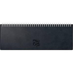 Tischquerkalender 2021 ide 31702 AC, 1 Woche / 2 Seiten, 30x10,5cm, schwarz