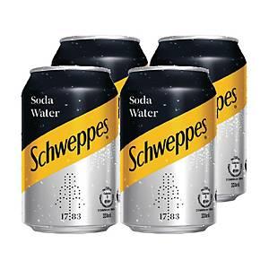 Schweppes 玉泉 梳打水330毫升 - 4罐裝