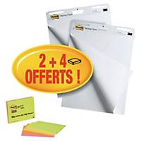 Paperboard adhésif Post-it Meeting Chart + bloc Meeting notes - lot de 2 + 4