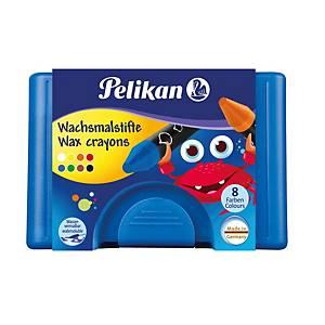 Voskové pastelky Pelikan, vodou roztierateľné, 8 farieb