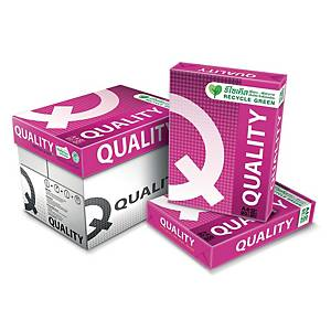 QUALITY กระดาษถ่ายเอกสาร Q-Red A4 80 แกรม สีขาว 500 แผ่น/รีม - 5 รีม/กล่อง