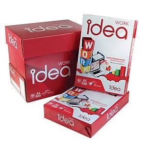 IDEA WORK กระดาษถ่ายเอกสาร A4 80 แกรม ขาว 1 รีมบรรจุ 500แผ่น