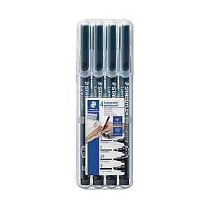 Staedtler 31-9WP4GS huopakynä permanent, 1 kpl=4 kynää