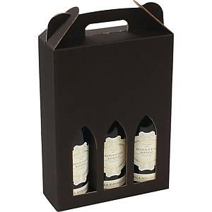 Vinæske til 3 flasker, sort