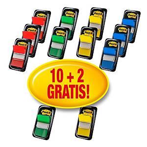 Segnapagina Post-it® Index medium kit 10 dispenser da 50pz+ 2 dispenser gratis