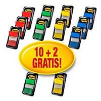 Pack de 10 + 2 dispensadores Post-it Index medianos - varios colores