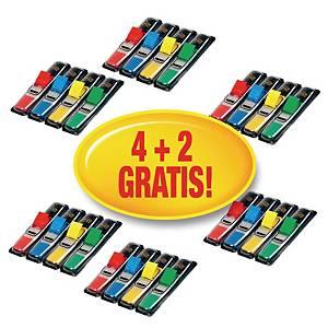 Zakładki indeksujące POST-IT® mini w opakowaniu promocyjnym 4 + 2 gratis