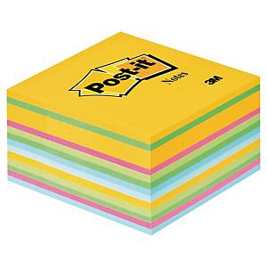 3M Post-it® 2030 Klebezettel im Würfelblock, 76x76mm, bunt, Pack. 450 Blatt