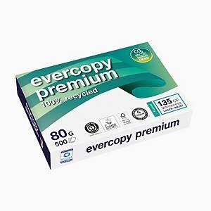Kopierpapier Evercopy Premium A4, 80 g/m2, weiss, Pack à 500 Blatt