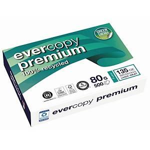 Genbrugspapir Evercopy Premium A4, 80 g, kasse med 5 pakker a 500 ark