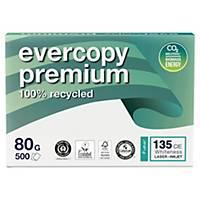 Caja de 5 paquetes 500 hojas de papel reciclado Evercopy Premium - A4 - 80 g/m2