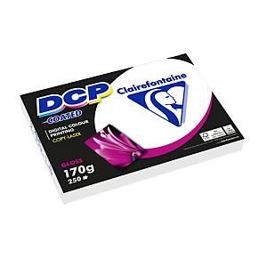 Papier A4 blanc Clairefontaine DCP Coated pour laser couleur, 170g, 250 feuilles