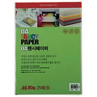 PK25 DOOSUNG P15 PAPER A4 80G YELLOW GREEN