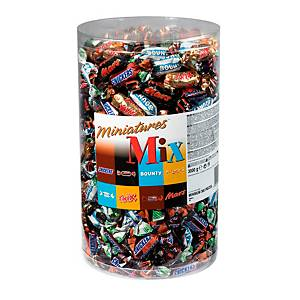 Mars Miniatures, 296 Teile, Mars, Snickers, Bounty, Twix, in Mix Box mit 3000g
