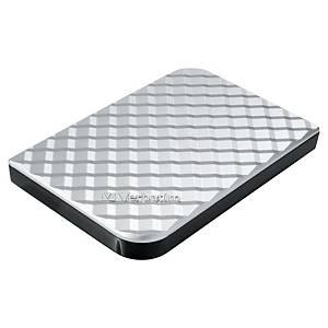 Disque dur externe portable Verbatim USB 3.0, 2.5 , 1 To, argenté