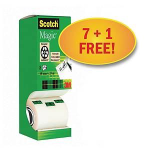 Neviditeľné lepiace pásky Scotch Magic 810 - zvýhodnené balenie 8 kusov