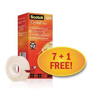 Scotch Crystal 8 db átlátszó ragasztószalag (7 + 1 ajándék)