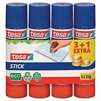 Klebestift Tesa ECO, 20 g, 3+1 gratis, Packung à 4 Stück