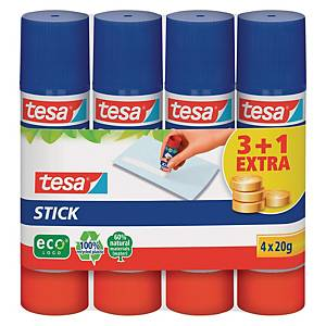Pack de 3+1 colas stick Tesa ecoLogo - 20g
