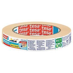 Tesa® Krepp papieren tape, oplosmiddelvrij, B 19 mm x L 50 m